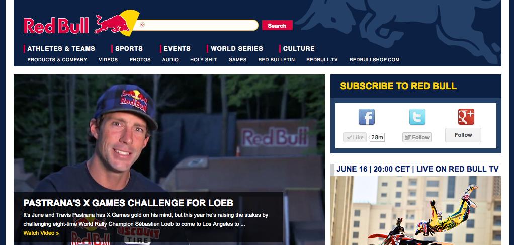 Redbull Homepage