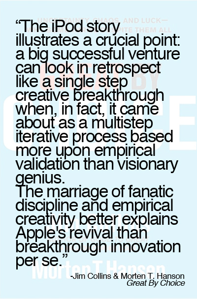 Great-by-Choice-quote-breakthrough-innovation Fanatic discipline and empirical creativity