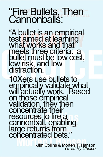 Great-by-Choice-quote-fire-bullets-then-cannon-balls