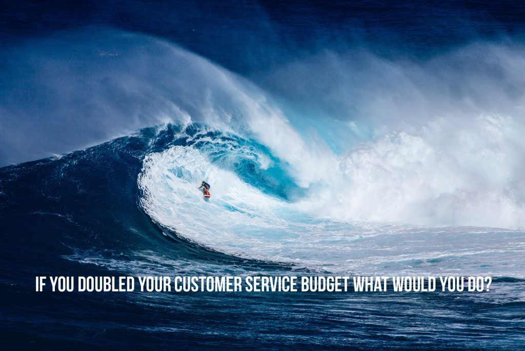 If you doubled your customer service budget what would you do