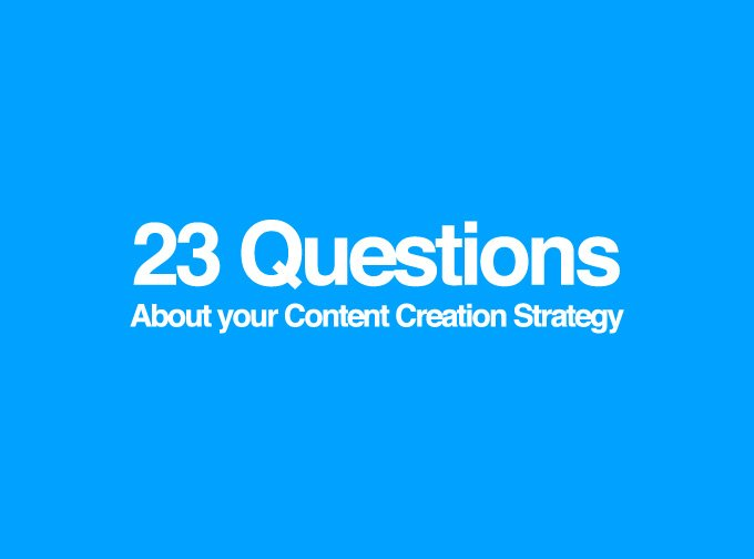 What's your content creation strategy