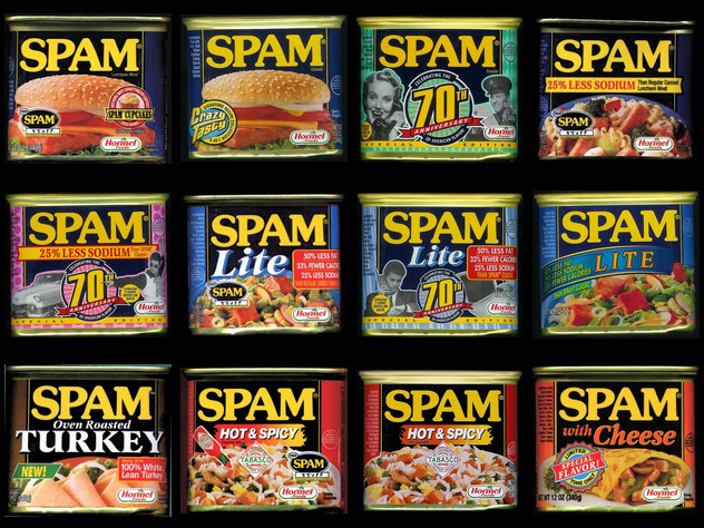 Lots of spam cans
