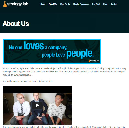 Strategy Lab Regina About Us Page