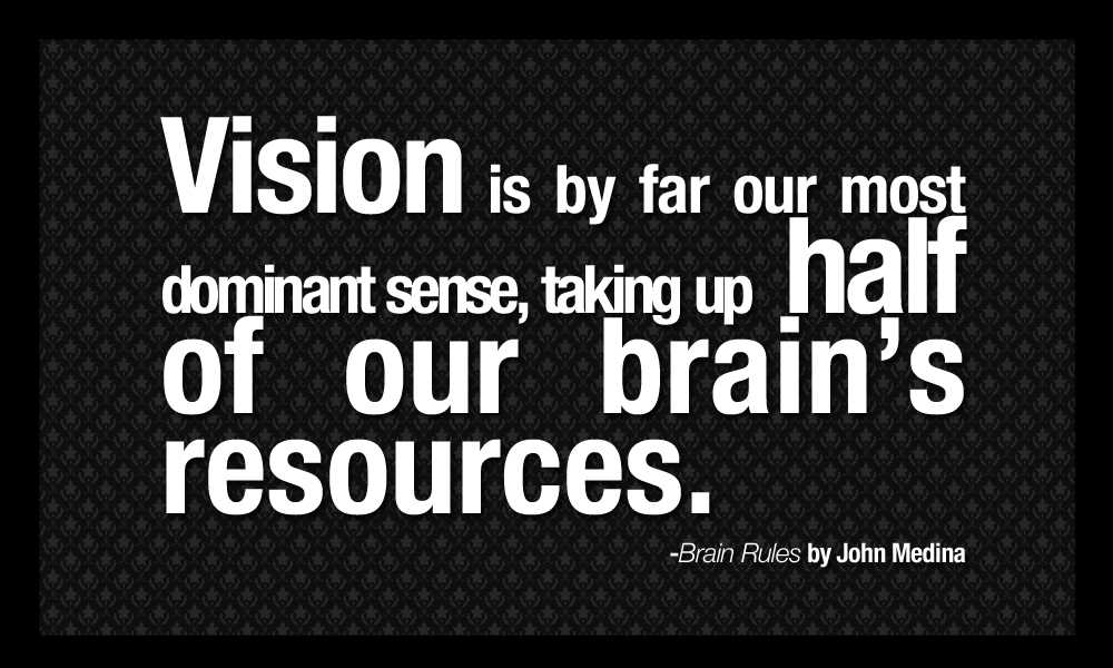 Brain Rules Quotes - Vision is by far our most dominant sense