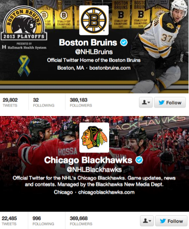 Blackhawks vs Bruins