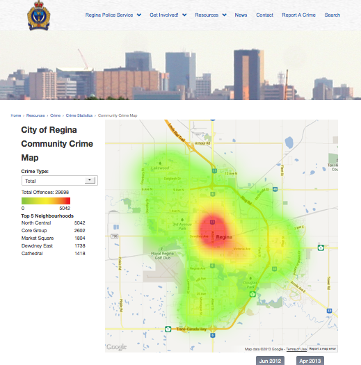 RPS Interactive Crime Map