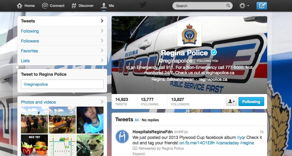 Regina Police On Twitter