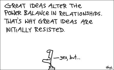 great ideas alter the pwer balance in the realtionship