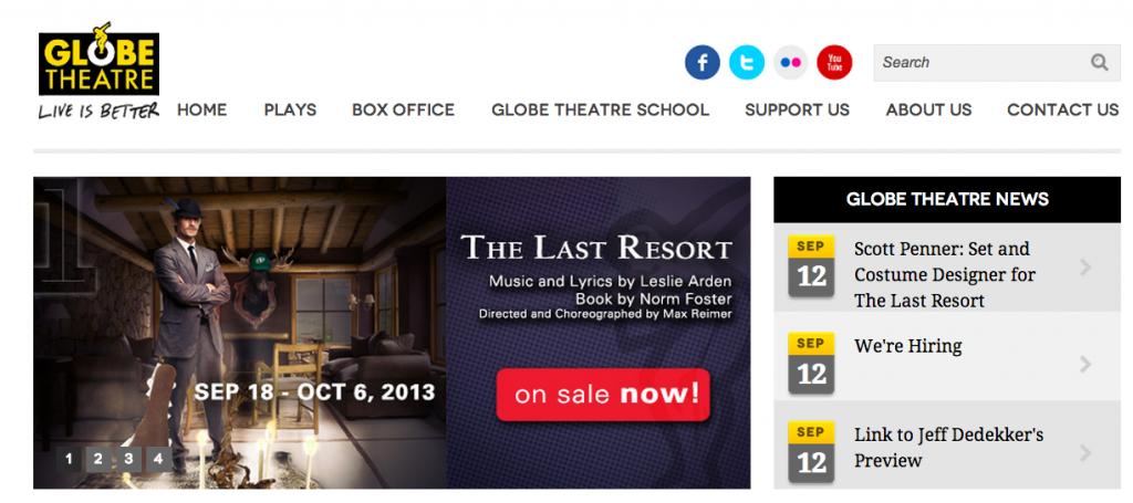 Globe Theatre Regina Website