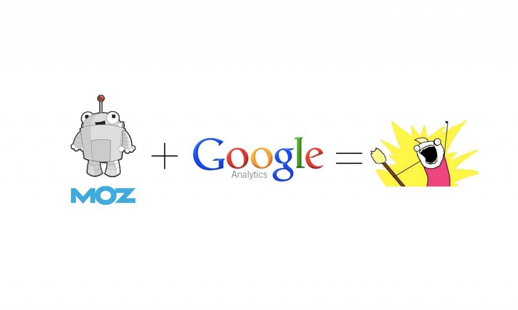 Moz + google analytics = awesome