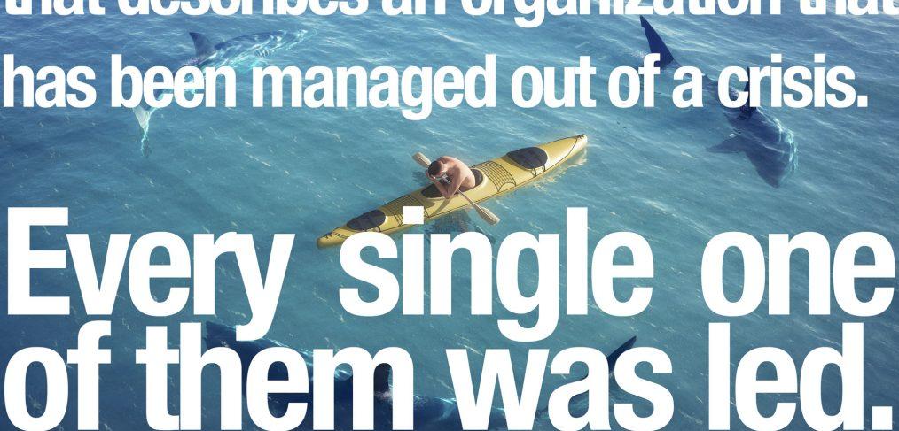 Simon Sinek Managed out of a crisis