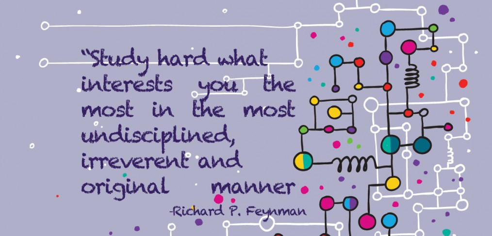 "Richard Feynman Quote ""study hard"""