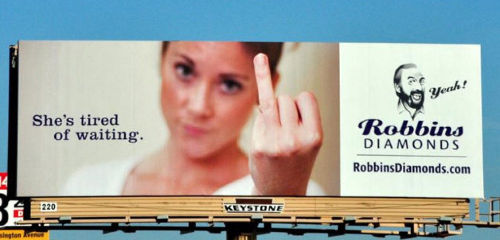 Most creative ads ever - she's tired of waiting