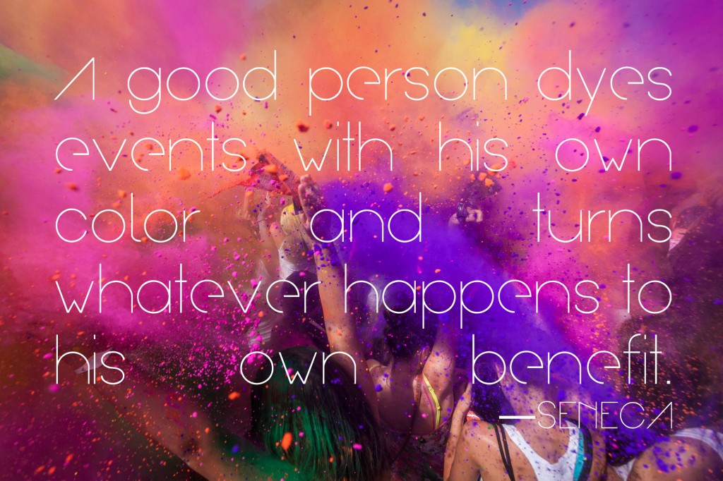 A good person dyes events with his own color