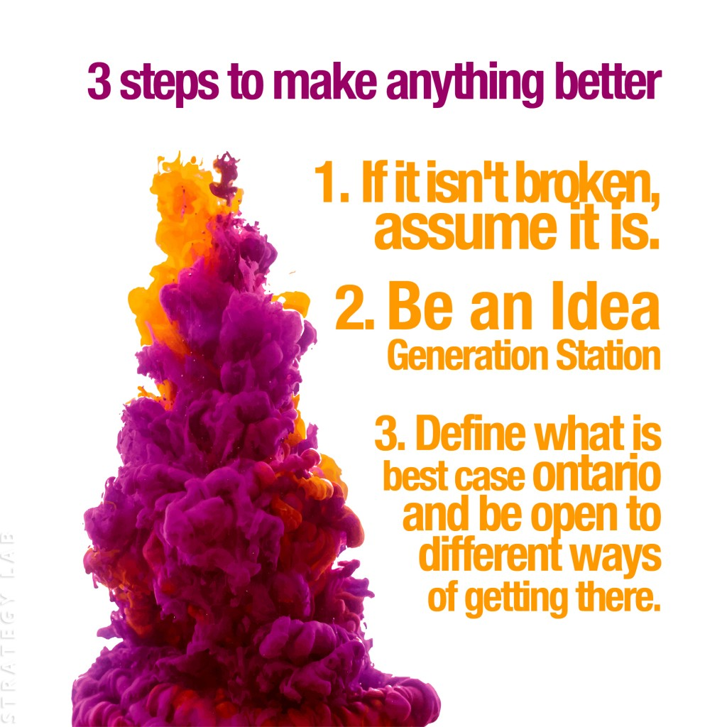 3 ways to make anything better