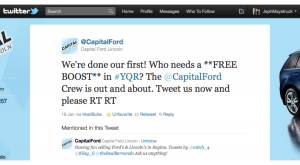 Capital Ford Tweet-about boosting