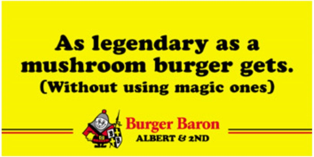 burger baron ads
