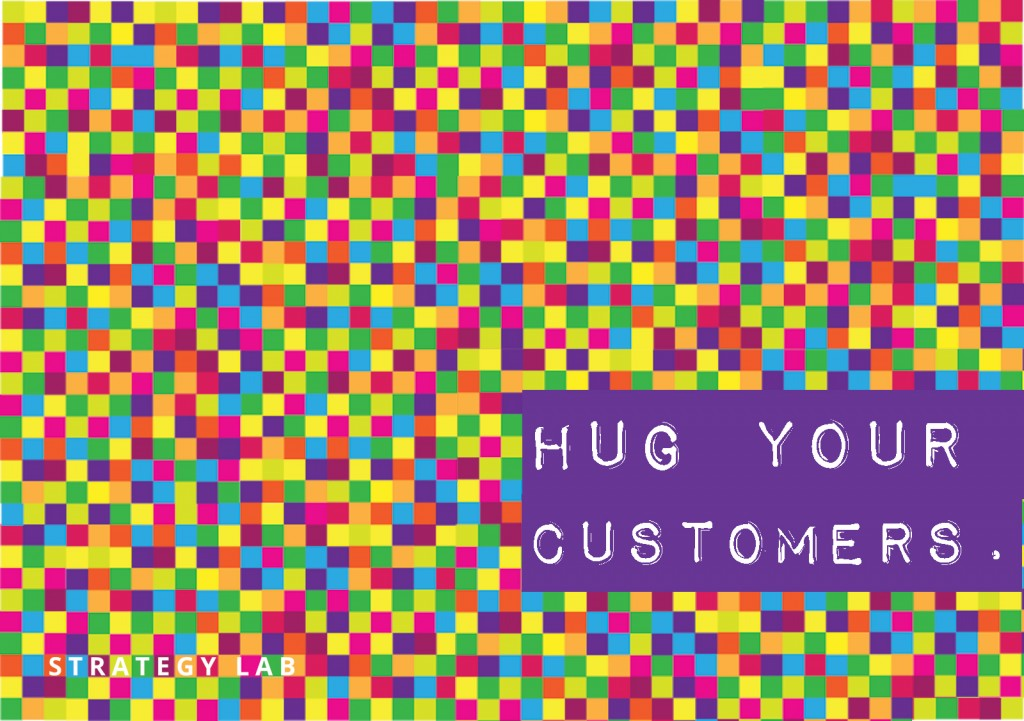Hug your customers - Strategy Lab Stickers