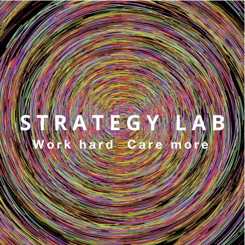 Strategy Lab Stickers-Work hard care more