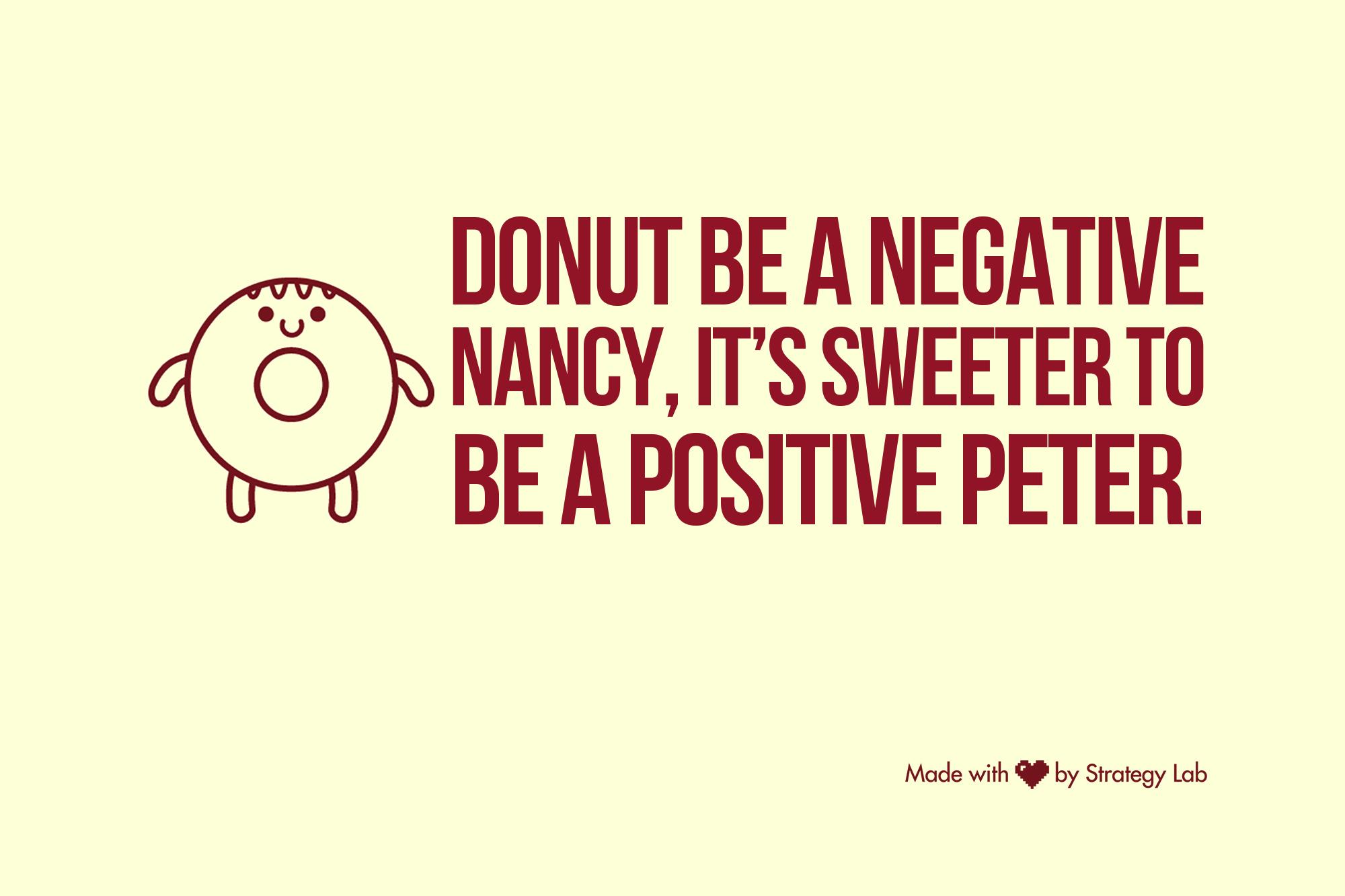 Donut be negative