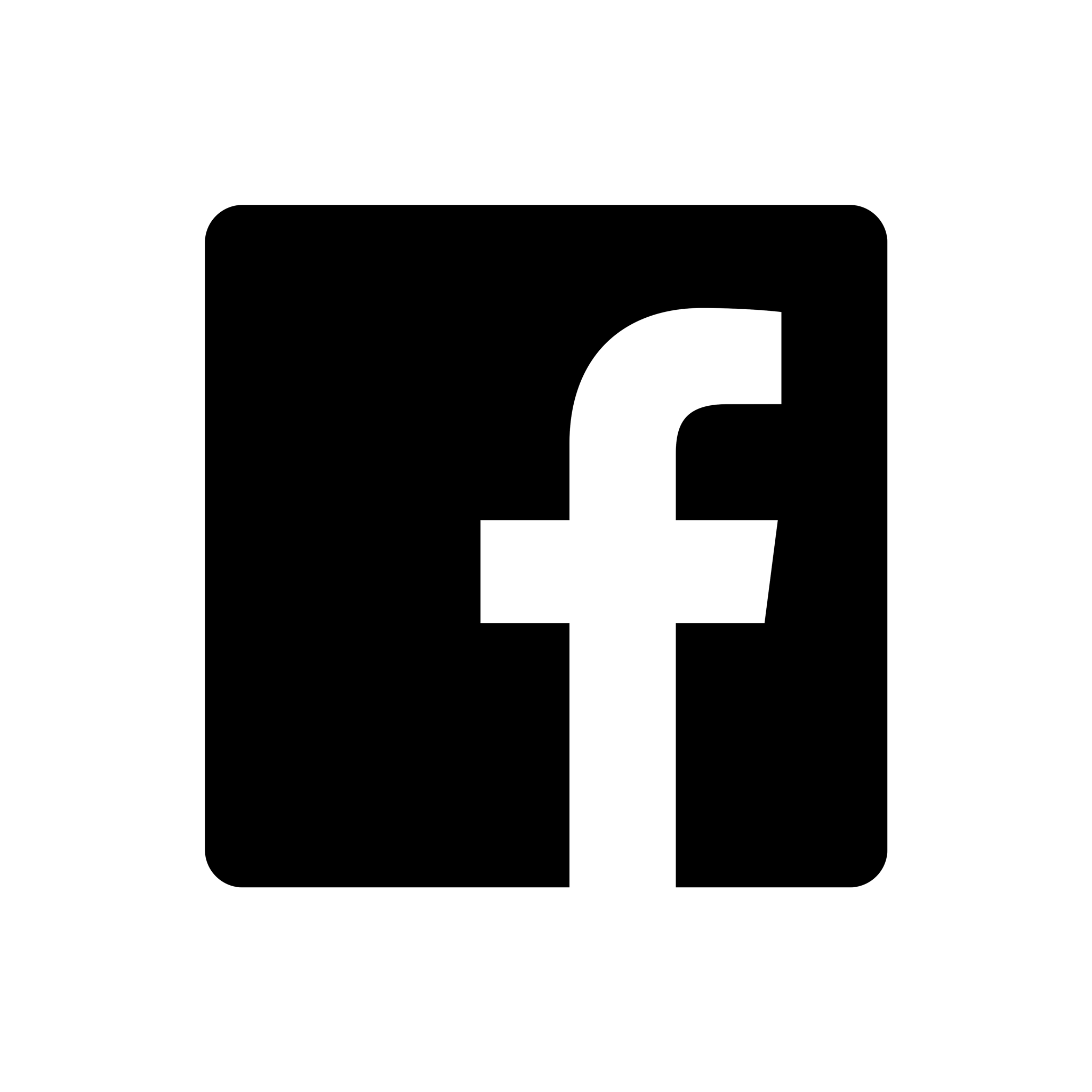 Icon white and facebook png black White facebook