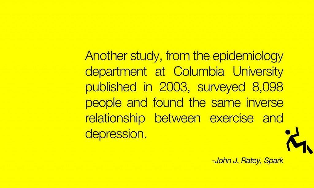 Columbia University the inverse relationship between exercise and depression