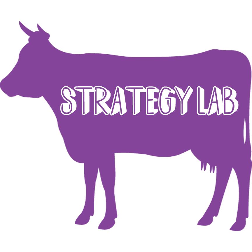 Strategy Lab Logo - Purple cow