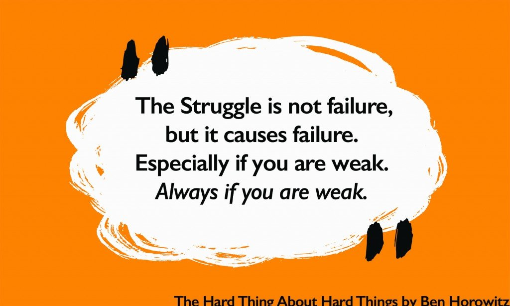 The Struggle is not failure but it causes failure