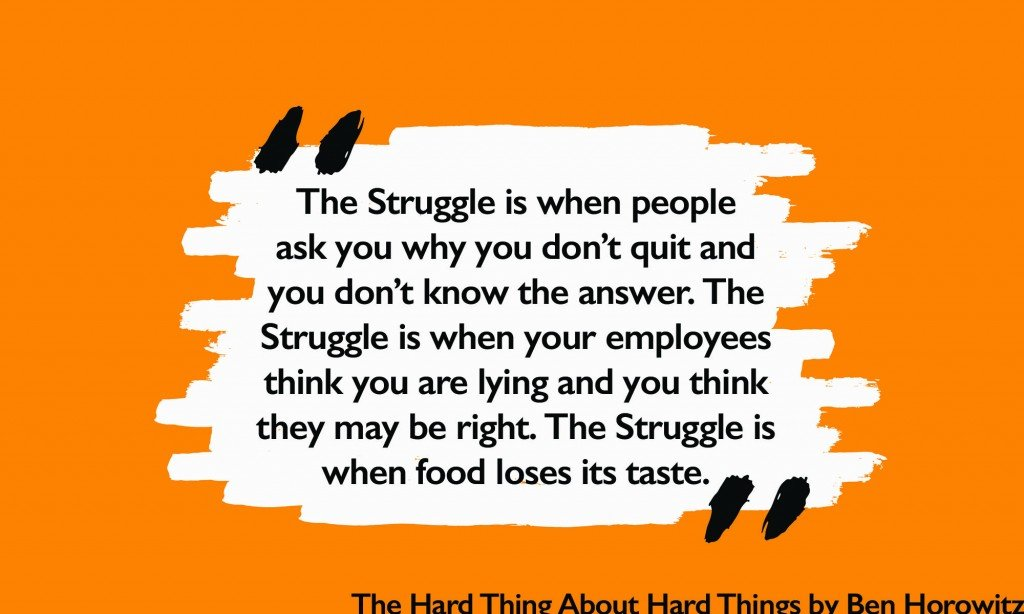 The struggle is when food loses its taste