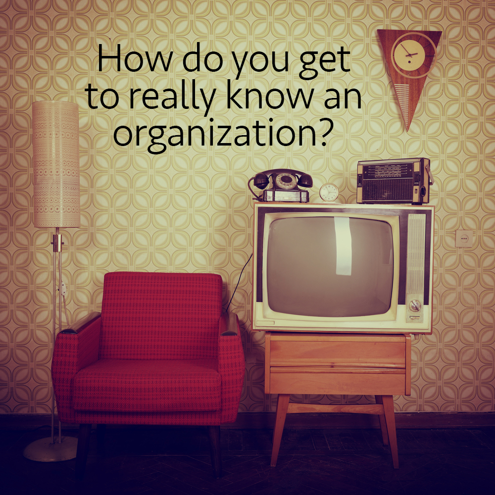 how-do-you-get-to-know-an-organization