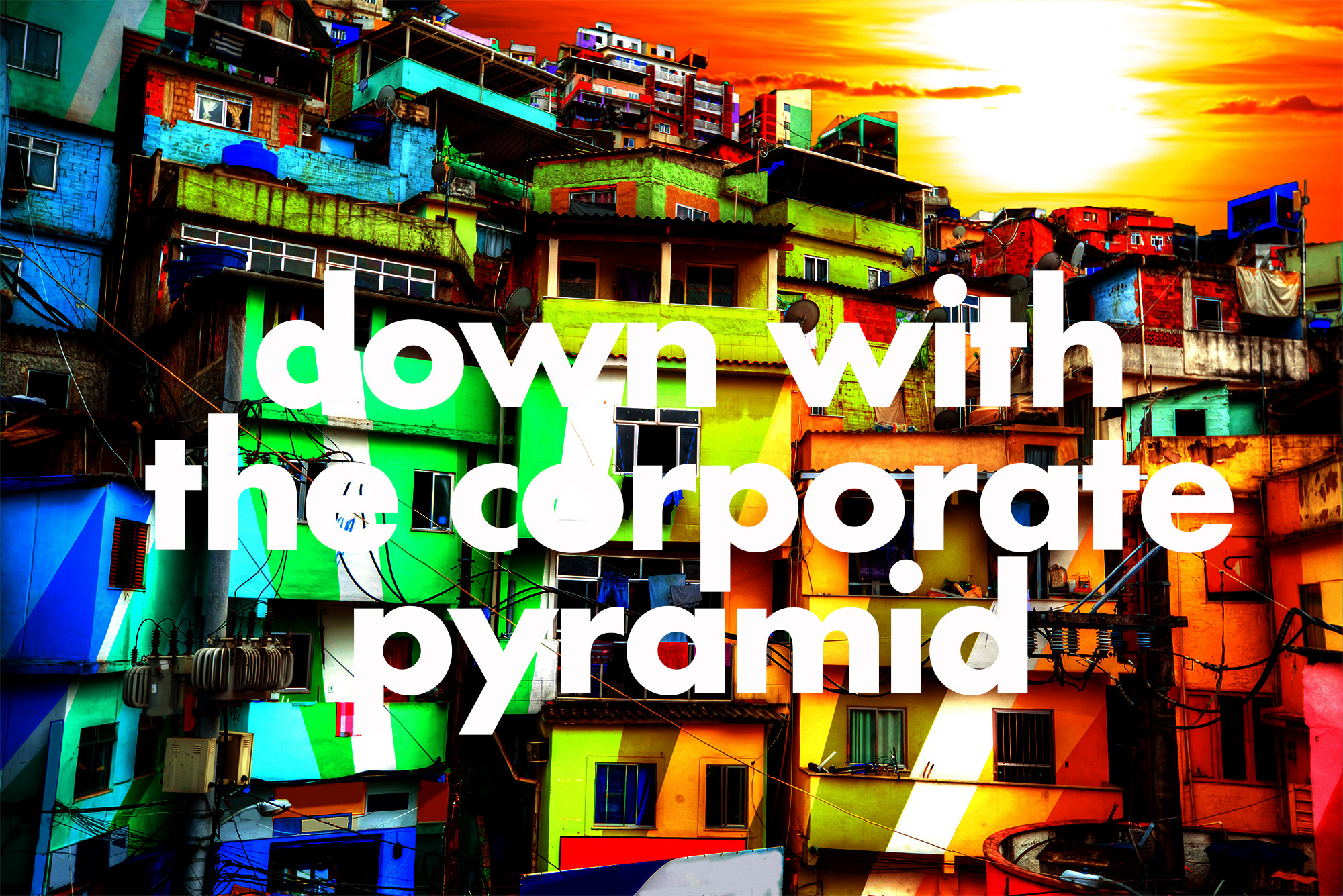 Down with the corporate pyramid