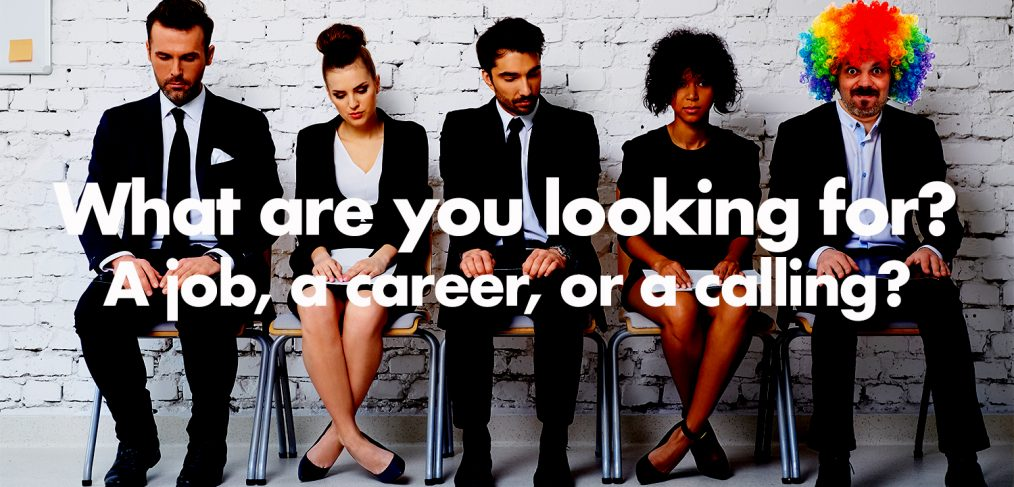 what are you looking for a job a career or a calling