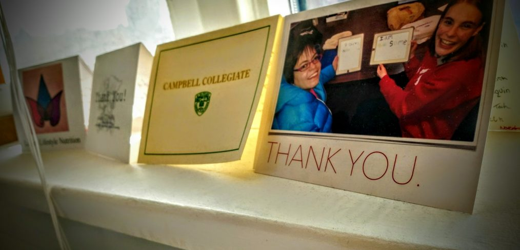 You can judge a company based on how many thank you cards they get