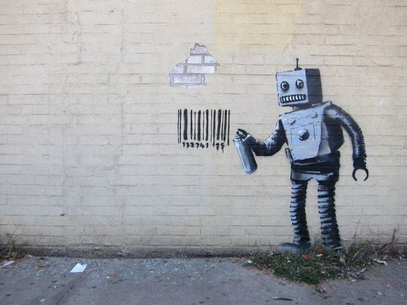 banksy-robot grafiti