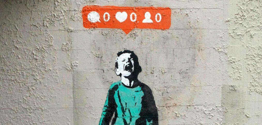 social media by banksy