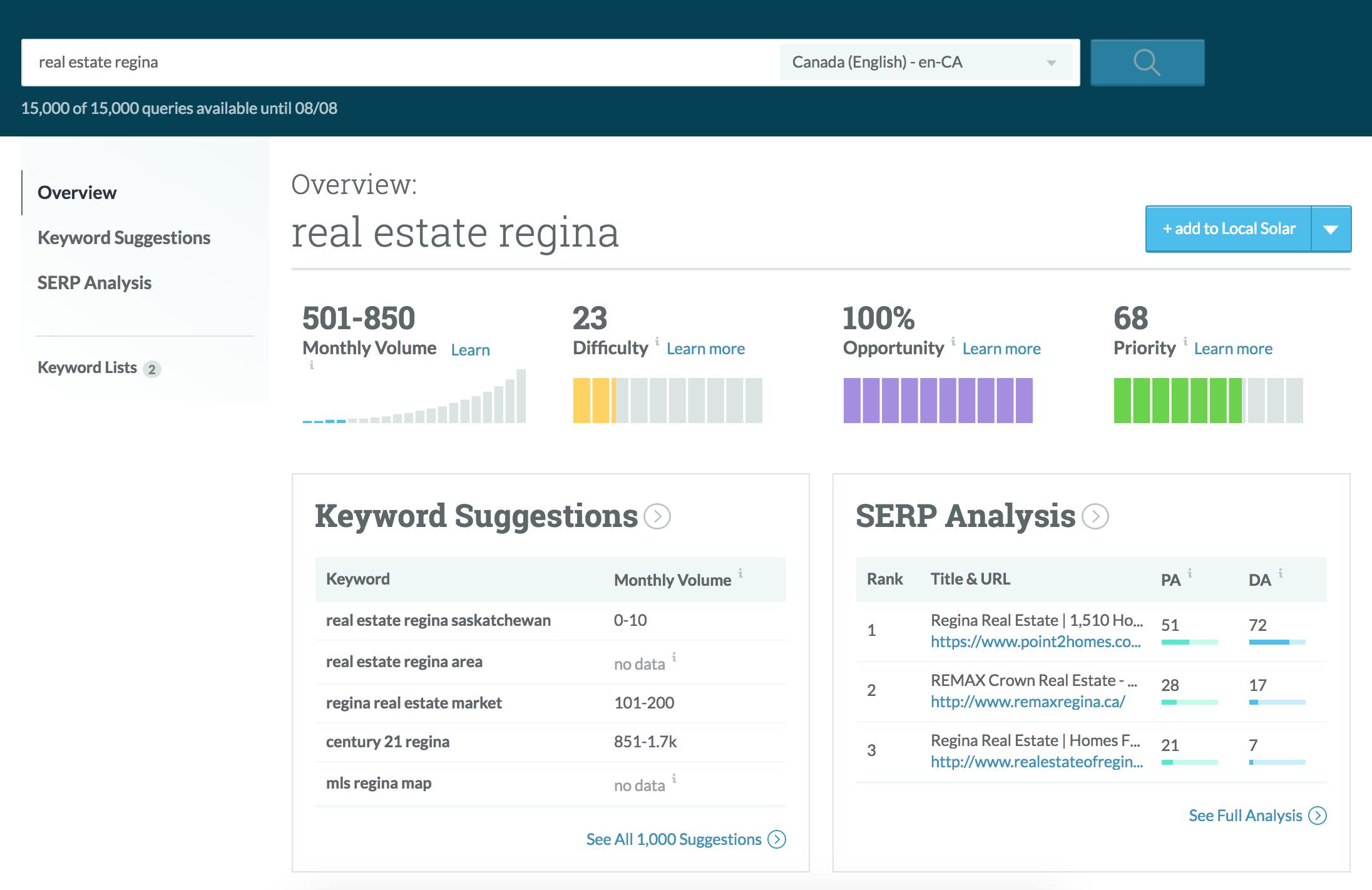 On-page optimization for real estate regina