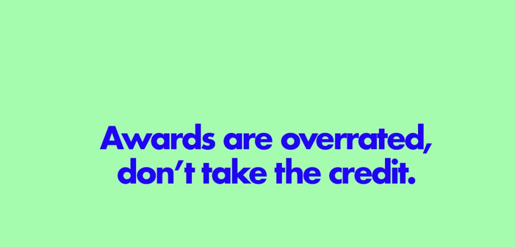 don't take the credit