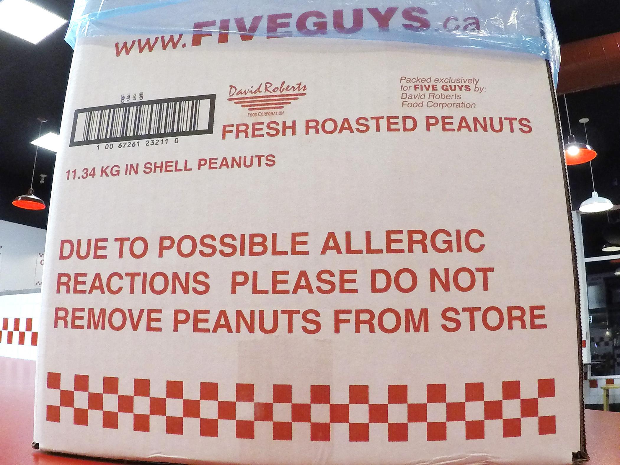 Peanuts at Five Guys