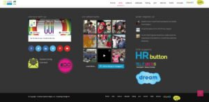 social media platforms on the footer of the COR website