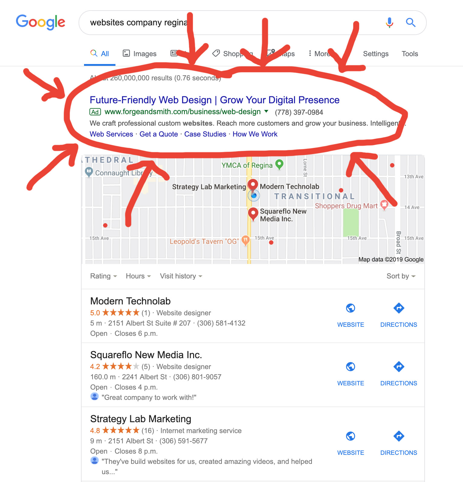 what ads look like in Google search