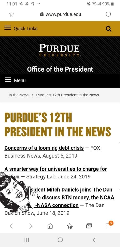 Screenshot Purdue University